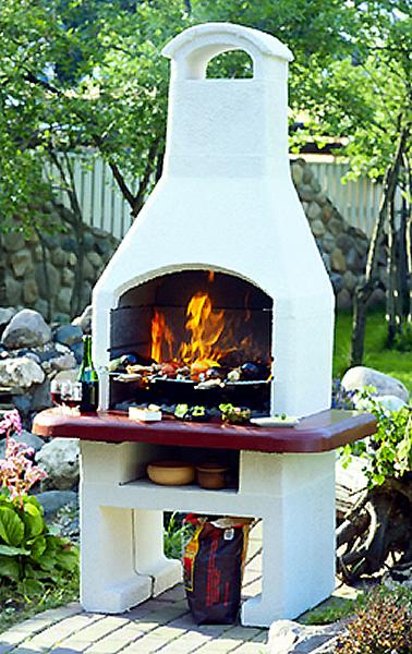Печь барбекю садовая
